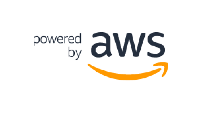 powered by AWS logo