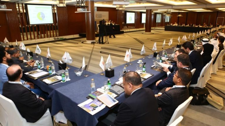 Attendees sat round the table at an Islamic finance round table event