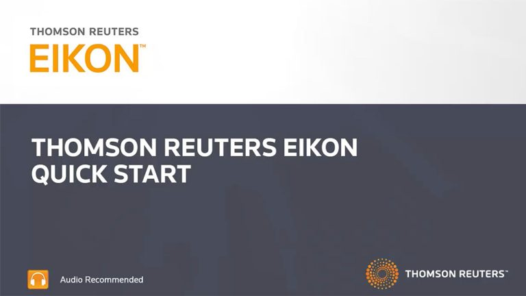 Introduction to getting started with Eikon training video still