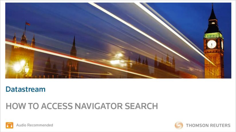 Datastream- How to access navigator search training and support video screenshot
